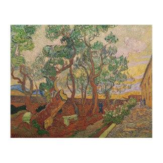 Impression Sur Bois Vincent van Gogh | le jardin de l'hôpital de St