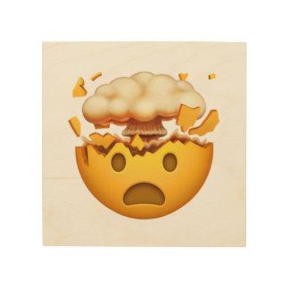 Impression Sur Bois Visage choqué avec la tête de explosion - Emoji