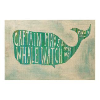 Impression Sur Bois Whale Watch côtier de l'art | de capitaine Max's