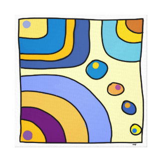 Impression sur toile carrée 30,48cm Bubble Gum Art