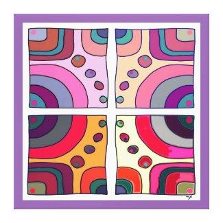 Impression sur toile extra grand, Bubble Gum Art 2