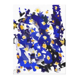 """Impression sur toile, Grand modèle, """"Blue Flowers"""" Toiles"""