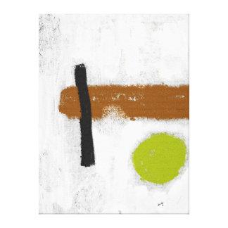 """Impression sur toile Grand modèle """"Le Cercle vert"""" Toiles"""