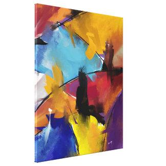 """Impression sur toile, moyen modèle """"Abstract 1412"""""""