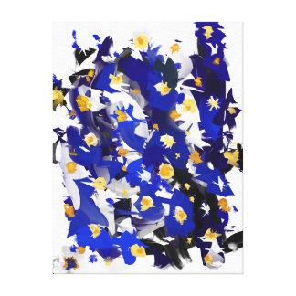 """Impression sur toile, Petit modèle, """"Blue Flowers"""""""