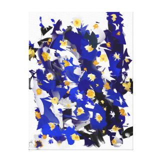 """Impression sur toile, Petit modèle, """"Blue Flowers"""" Toiles"""
