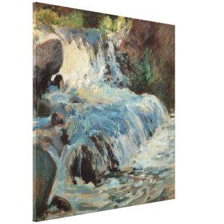 Impressionisme vintage, la cascade par Twachtman Toiles
