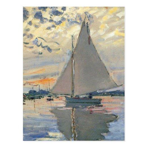 Impressionniste de Français de voilier de Monet Carte Postale