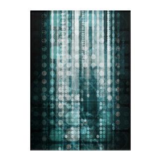 Impressions En Acrylique Abrégé sur technologie avec le déplacement de
