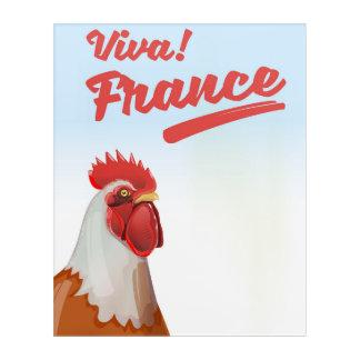Impressions En Acrylique Affiche de voyage de coq de la France