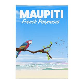 Impressions En Acrylique Affiche de voyage de Maupiti Polynésie française