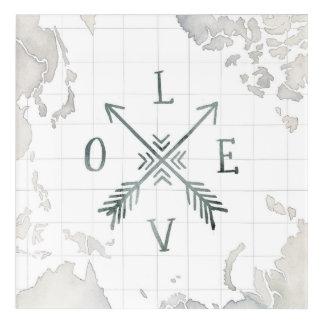 Impressions En Acrylique Amour de l'aventure III   d'envie de voyager