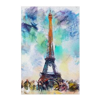 Impressions En Acrylique Aquarelle de Tour Eiffel