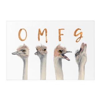 Impressions En Acrylique Autruches d'OMFG