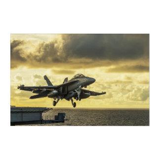 Impressions En Acrylique Avion de chasse de vibreur d'Ea18g lançant outre