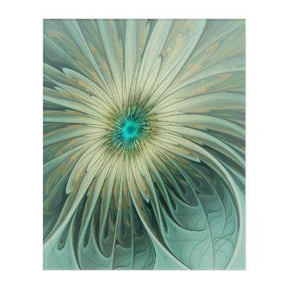 Impressions En Acrylique Blé abstrait moderne de turquoise de fleur
