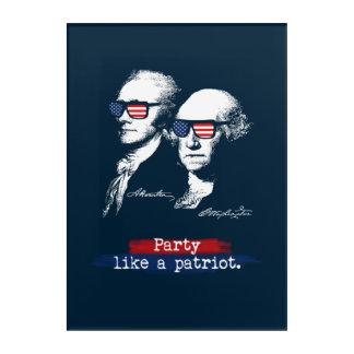 Impressions En Acrylique Cadeau de patriotes d'Alexander Hamilton George