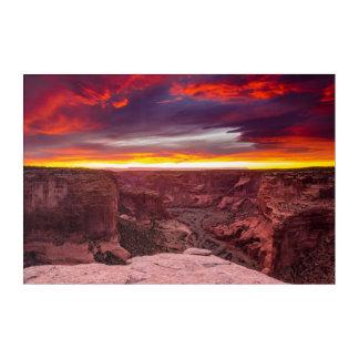 Impressions En Acrylique Canyon de Chelly, coucher du soleil, Arizona