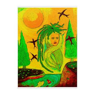 Impressions En Acrylique Carré Nature, Femme Créative