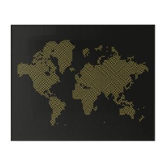 Impressions En Acrylique Carte du monde de Digitals
