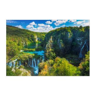 Impressions En Acrylique Cascade élégante pittoresque, Croatie