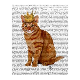 Impressions En Acrylique Chat de gingembre avec la couronne pleine