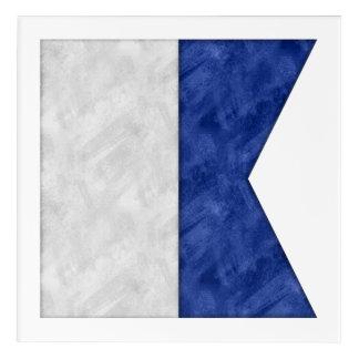 Impressions En Acrylique Choisissez de 26 drapeaux maritimes nautiques