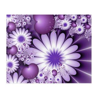 Impressions En Acrylique Chute dans la fractale de fleurs et de coeurs
