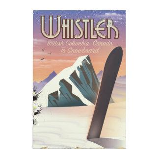 Impressions En Acrylique Colombie-Britannique de Whistler faisant du surf
