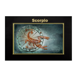 Impressions En Acrylique Conception d'astrologie de zodiaque de Scorpion
