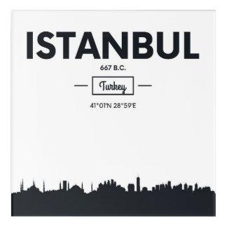 Impressions En Acrylique Coordonnées de ville d'Istanbul, Turquie  