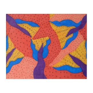 Impressions En Acrylique Copie acrylique colorée d'art contemporain