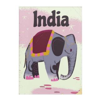 Impressions En Acrylique Copie vintage d'affiche de voyage d'éléphant