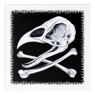 Impressions En Acrylique Crâne et os croisés de coq