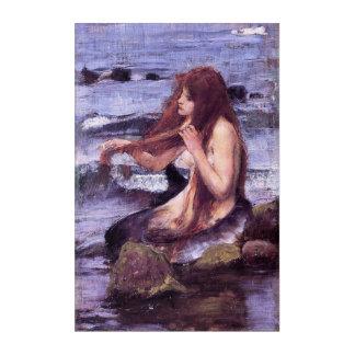 Impressions En Acrylique Croquis pour une sirène par le château d'eau de J