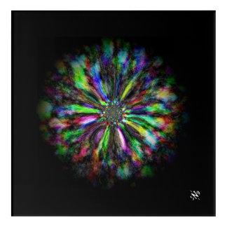 Impressions En Acrylique Croquis psychédélique coloré d'une fleur