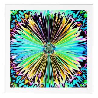 Impressions En Acrylique Croquis psychédélique coloré d'une fleur 2