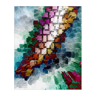 Impressions En Acrylique Cube central