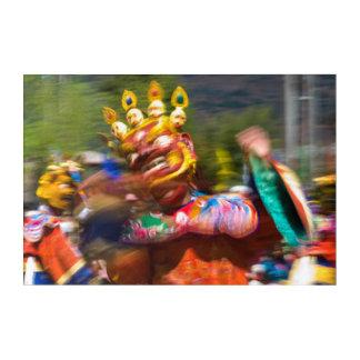 Impressions En Acrylique Danseur costumé asiatique