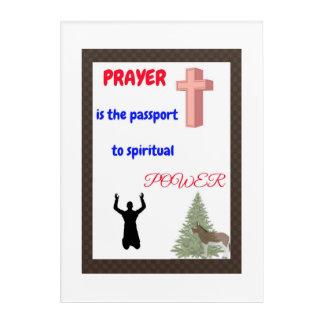 Impressions En Acrylique Décalques de mur de prière, prières de sérénité