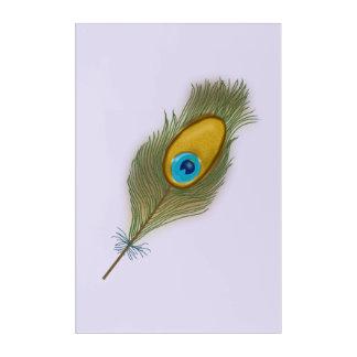 Impressions En Acrylique Dessin simple de plume de paon