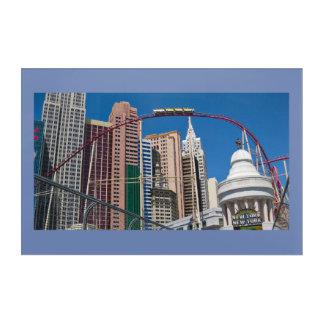 Impressions En Acrylique Dessous de verre Las Vegas de New York New York