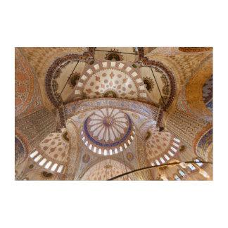Impressions En Acrylique Détail bleu de plafond de mosquée