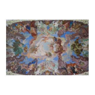 Impressions En Acrylique Détail fleuri de plafond de bibliothèque
