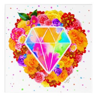 Impressions En Acrylique Diamant fleuri