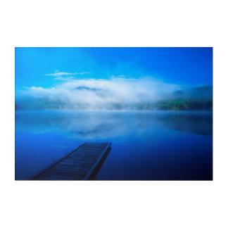 Impressions En Acrylique Dock sur le lac brumeux calme, la Californie