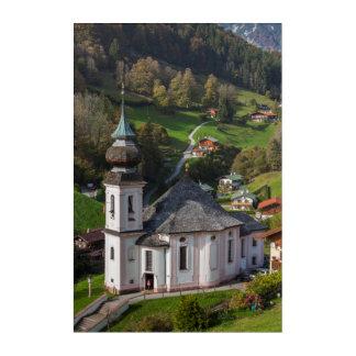 Impressions En Acrylique Église de village de Maria Gern, Bavière