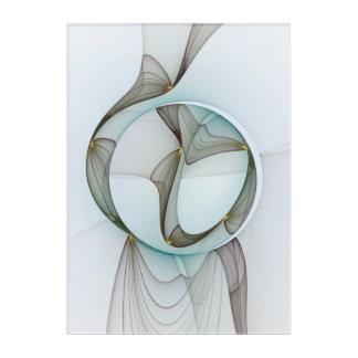 Impressions En Acrylique Élégance moderne abstraite d'or de Brown de