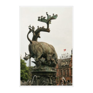 Impressions En Acrylique Entrée Copenhague Danemark de jardins de Tivoli
