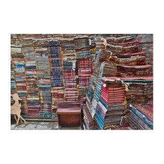 Impressions En Acrylique Escalier de vieux livres